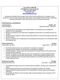 Case Management Resumes Manager Resume Examples