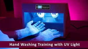Uv Sterilizer Cabinet Uk by Hand Washing Training With Uv Light Youtube