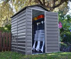 6 X 6 Wood Storage Shed by Garden Exciting Image Of Double Door Light Brown And Beige Wooden