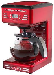 Nostalgia Electrics Retro Series 50s Style 12 Cup Coffee Maker Red