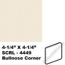 0135 almond 4 25 x 4 25 bullnose corner scrl4449 dal tile