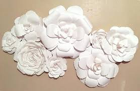 Decorative Wall Flowers Flower Decor 7 Paper Wedding Home Nursery Backdrop Photo Shoot Umbra