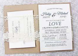 Rustic Lace Wedding Invitation Par LoveofCreating