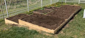 raised garden bed with fence home outdoor decoration