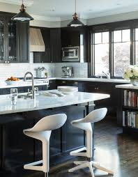 Adorable 30 Best Black Kitchen Cabinets Design Ideas With At