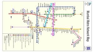 Mumbai metro Full map of Metro railway station