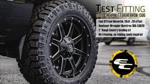Test Fitting - Leveled 2015 Chevy Silverado 1500 W/ 20