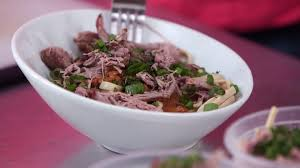 Noodles with Roast Pork and Almond Sauce Recipe