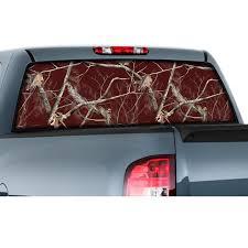 100 Realtree Truck Window Film Graphic All Purpose Maroon Camo Camouflage