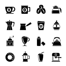 Silhouette Different Types Of Coffee Industry Icons Illustration