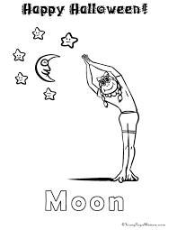 Yoga Coloring Pages Fullmoonyoga Org Blog Party Free Healthy Halloween Treats Young Masters