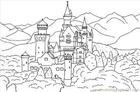 Pics Coloring Disney Castle Pages Free With Of Baviere In Forest Page