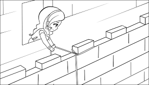 Rahab Coloring Pages Two Spies Page
