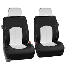 Sofa Headrest Covers Uk by Pu Leather Car Seat Covers For Auto Black White 5 Headrests Black