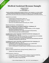 Medical Assistant Resume With No Experience Perfect Cover Letter