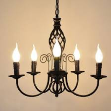 European Iron Candle Living Room Chandeliers Vintage Dining Lights Simple Study Lamp