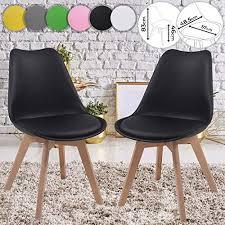 miadomodo esszimmerstühle 2er 4er 6er 8er set skandinavischer stil gepolstert mit sitzkissen aus kunststoff massivholz farbwahl vintage