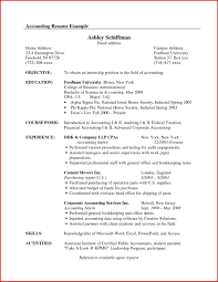 Resume Objective Examples General Accountant Fresh Accounting Objectives Template