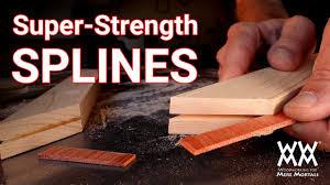 Hardwood Floor Spline Glue by How To Reinforce Miter Joints With Super Strong Splines Simple