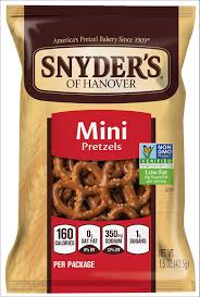 Halloween Pretzel Sticks by Amazon Com Snyder U0027s Of Hanover Mini Pretzels 48 Count 1 5 Ounce Each
