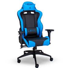 levl alpha m best pc gaming chair blue black