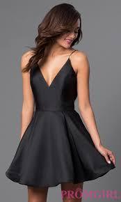 jvn by jovani satin v neck homecoming dress promgirl