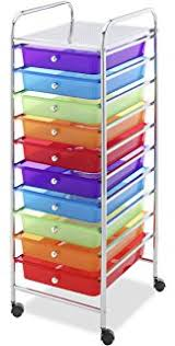 Amazon Seville Classics 10 Drawer Organizer Cart Multi Color