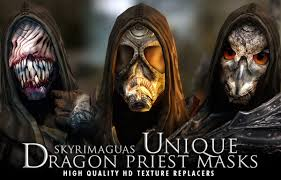 Payday 2 Halloween Masks Disappear by Unique Dragon Priest Masks Hd Textures At Skyrim Nexus Mods