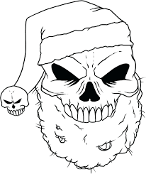 Scary Coloring Pages Skull Christmas Sheets Free For Adults