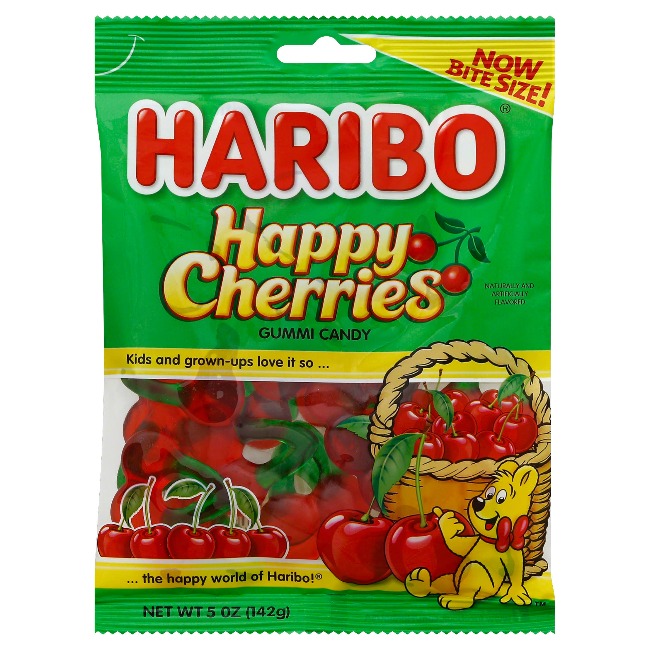 Haribo Gummi Candy - Twin Cherries, 142g