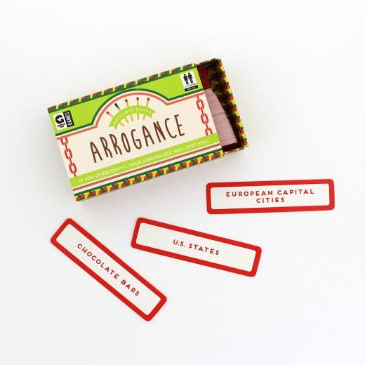 Ginger Fox Arrogance Matchbox Game