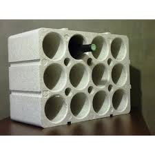 range bouteille en brique casier à bouteilles 12 places en polystyrène casier à bouteilles