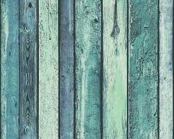 a s création tapete holz blau grün türkis 362821