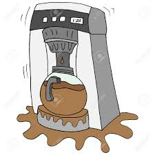 An Image Of A Broken Coffee Maker Stock Vector