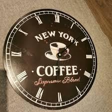 küchenuhr wanduhr uhr esszimmer kaffee coffee 43cm