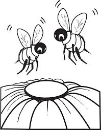 Printable Bee Coloring Page For Kids