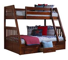 American Freight Bunk Beds by Discovery World Furniture Twin Over Full Merlot Mission Bunk Beds