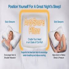 Anti Snoring Non allergenic Snooze Control Orthopaedic Support