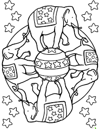 Circus Elephant Coloring Page Pages For Best Place To Color