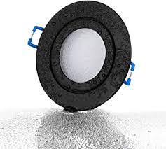 lambado premium led spots dimmbar für badezimmer in schwarz moderne deckenstrahler einbaustrahler ip44 für außen inkl 230v 5w gu10 strahler