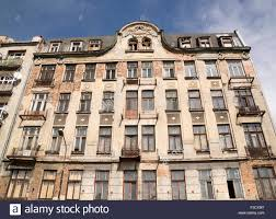 Poland Warsaw Praga District And Run Down Apartment Building