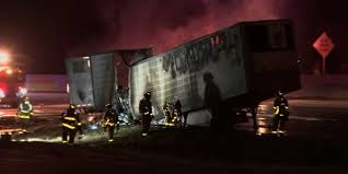 100 Game Truck Amarillo Hauling 40000 Pounds Of Chicken Catches Fire On GA Interstate