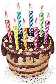 Candle clipart chocolate cake 4