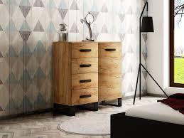 kommode sideboard grado wohn schlafzimmer industriell goldene eiche 100 cm