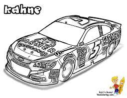 NASCAR Cars Coloring Kahne At YesColoring