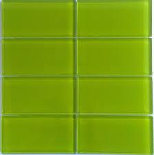 bright green glass subway tile in lemongrass modwalls lush 3x6