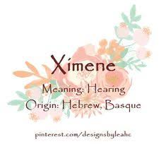 Baby Girl Name Ximene Meaning Hearing Origin Basque Hebrew