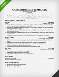Empathy Cashier Resume Sample