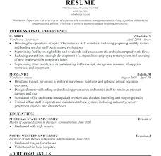 Storekeeper Resume Sample Supervor S