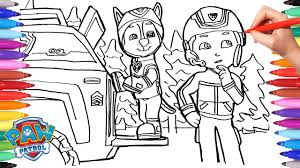 PAW PATROL Winter Rescue Coloring Pages For Kids